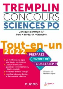 Tremplin Concours Sciences Po Tout-en-un 2022