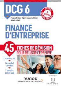 DCG 6 - Finance d'entreprise -  Fiches de révision
