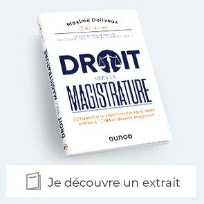 """Decouvrir un extrait de  """"Droit vers la magistrature"""""""