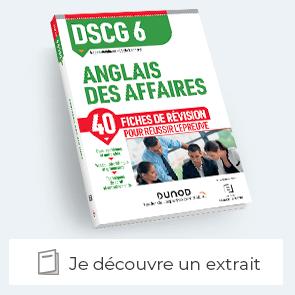 Extrait des fiches de révisions de l'anglais des affaires DCG-6