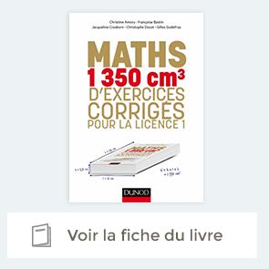 """Fiche du livre """"Maths - 1350 cm3 d'exercices corrigés pour la Licence 1"""""""