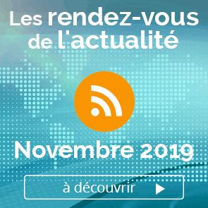 Les rendez-vous de l'actualité- novembre 2019