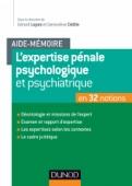 Aide-mémoire - L'expertise pénale psychologique et psychiatrique