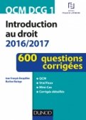 QCM DCG 1 - Introduction au droit 2016/2017