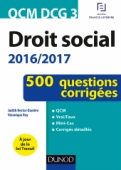 QCM DCG 3 - Droit social 2016/2017