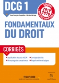 DCG 1 Fondamentaux du droit - Corrigés - Réforme 2019/2020