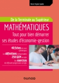 Mathématiques - Tout pour bien démarrer ses études d'économie-gestion