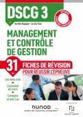 DSCG 3 - Management et contrôle de gestion - Fiches de révision