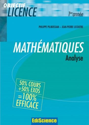 Analyse Cours Et Exercices Corriges Livre Mathematiques De Philippe Pilibossian Dunod