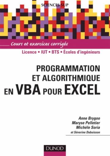 Programmation et algorithmique en VBA pour Excel