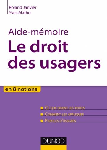 Aide-mémoire - Le droit des usagers