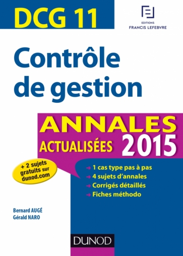 DCG 11 - Contrôle de gestion 2015