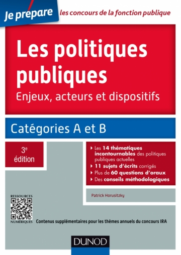 Les politiques publiques - Enjeux, acteurs et dispositifs - concours IRA