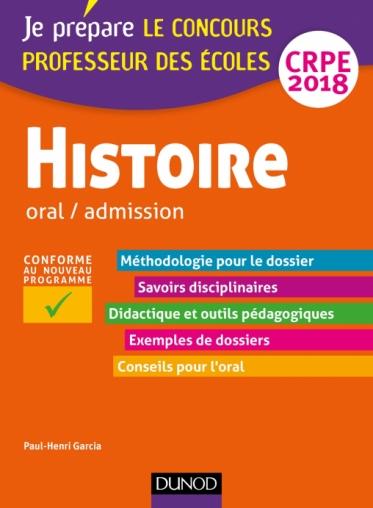 Histoire - Professeur des écoles - Oral / admission - CRPE 2018
