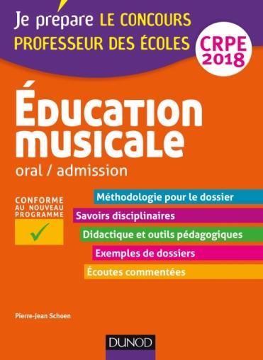 Education musicale - Oral / admission - CRPE 2018