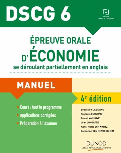DSCG 6 - Épreuve orale d'économie se déroulant partiellement en anglais