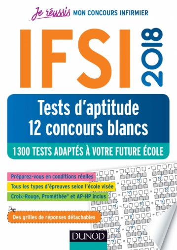 IFSI 2018 Tests d'aptitude - 12 concours blancs