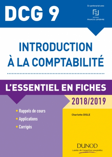 DCG 9 - Introduction à la comptabilité - 2018/2019