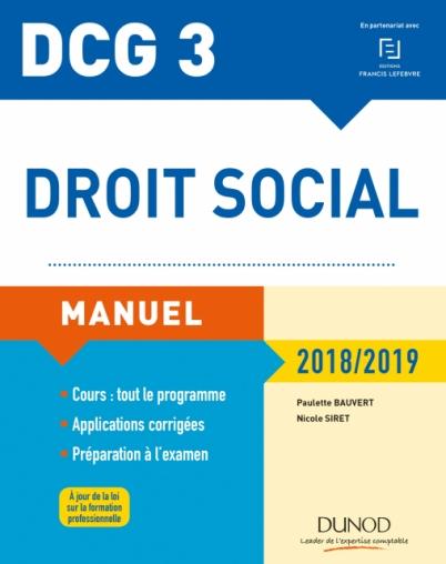 0716799d334 DCG 3 - Droit social Manuel 2018 2019 - Livre DCG de Paulette ...