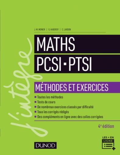 Maths PCSI-PTSI - Méthodes et exercices