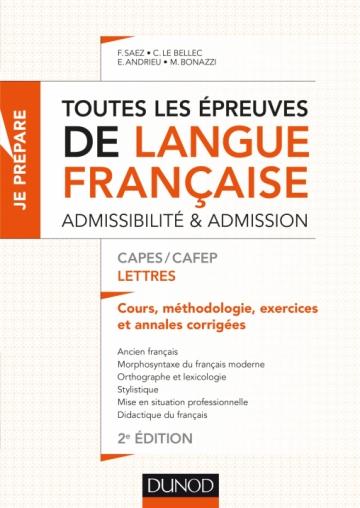 Toutes les épreuves de langue française - CAPES/CAFEP Lettres
