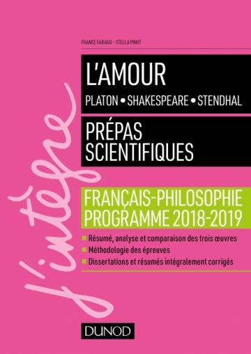 L'amour - Epreuve de français-philosophie Prépas scientifiques 2018-2019