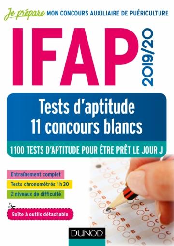 IFAP 2019-2020 Tests d'aptitude - 11 concours blancs