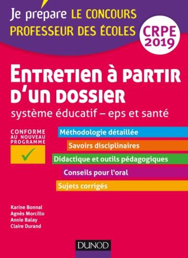 Entretien à partir d'un dossier - Système éducatif - EPS et Santé - CRPE 2019