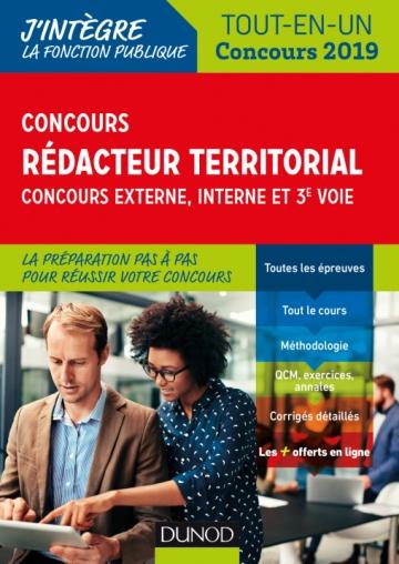 Concours Rédacteur territorial. Externe, interne et 3e voie.