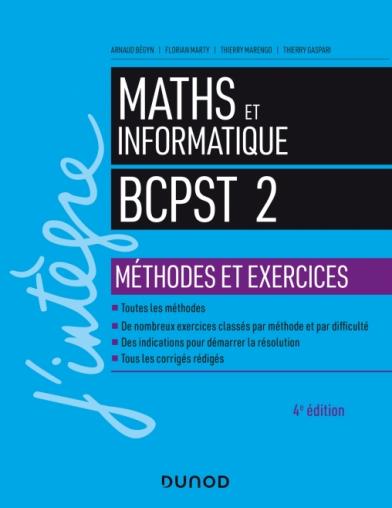 Maths et informatique BCPST 2