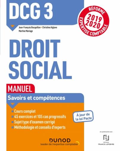 DCG 3 Droit social - Manuel