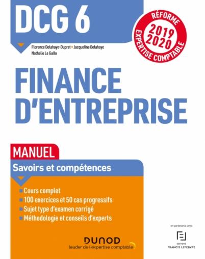 DCG 6 Finance d'entreprise - Manuel