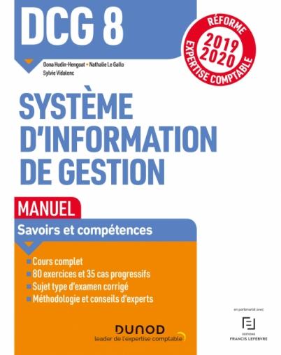 DCG 8 Systèmes d'information de gestion - Manuel - Réf 19/20
