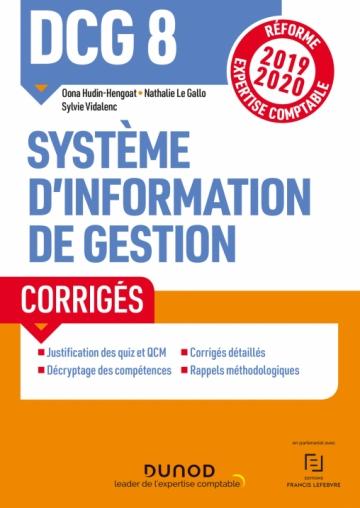 DCG 8  Système d'information de gestion - Corrigés