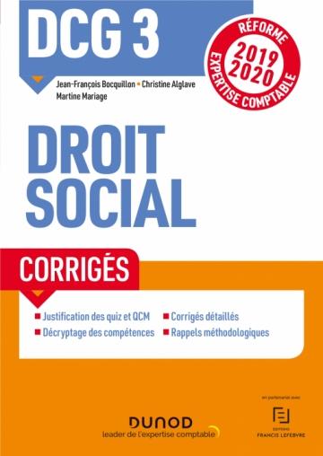 DCG 3 Droit social - Corrigés