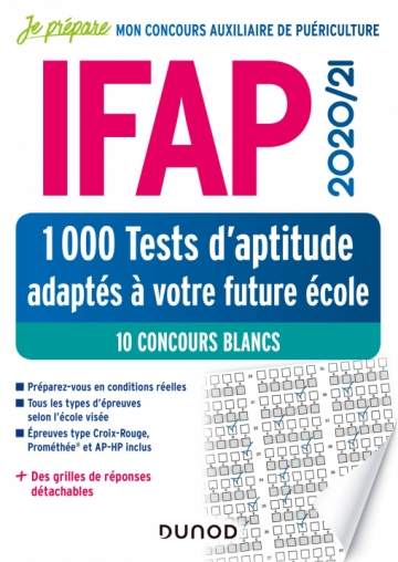 IFAP 2020-2021 Tests d'aptitude - 10 concours blancs - + de 1000 tests adaptés à votre future école