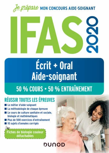 IFAS 2020 Concours Aide-soignant Ecrit + Oral