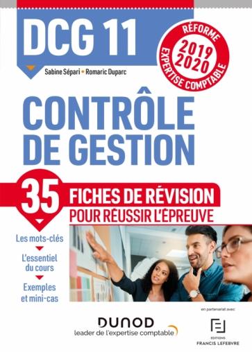 DCG 11 - Contrôle de gestion - Fiches de révision