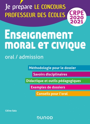Enseignement moral et civique - Oral, admission - CRPE 2020-2021