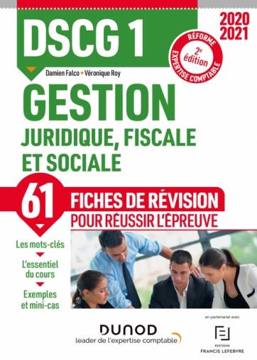 DSCG 1 Gestion juridique, fiscale et sociale - Fiches de révision