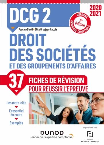DCG 2 -Droit des sociétés - Fiches de révision