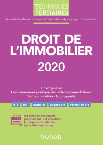 Droit de l'immobilier 2020