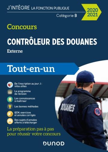 Concours Contrôleur des douanes - Externe 2020/2021