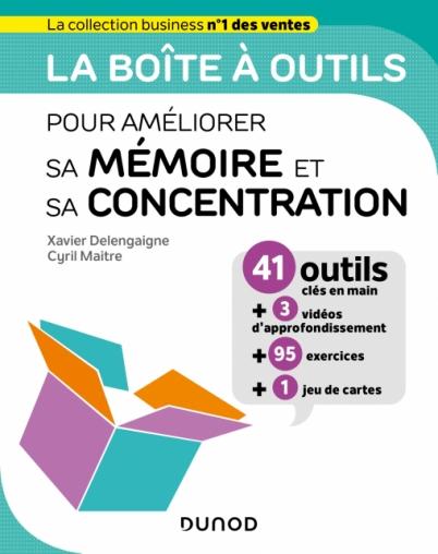 Couverture du livre la boîte à outils pour améliorer sa mémoire et sa concentration
