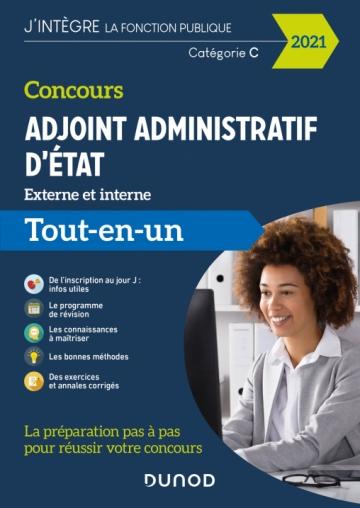 Concours Adjoint administratif d'Etat - 2021 - Externe et interne