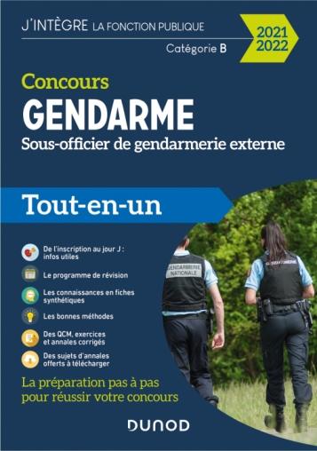 Concours Gendarme - Sous-officier de gendarmerie externe - 2021/2022