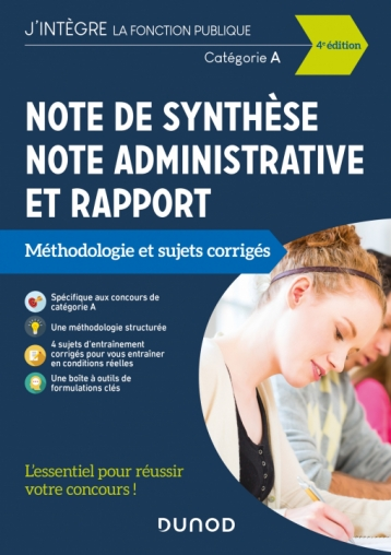 Note de synthèse, note administrative et rapport