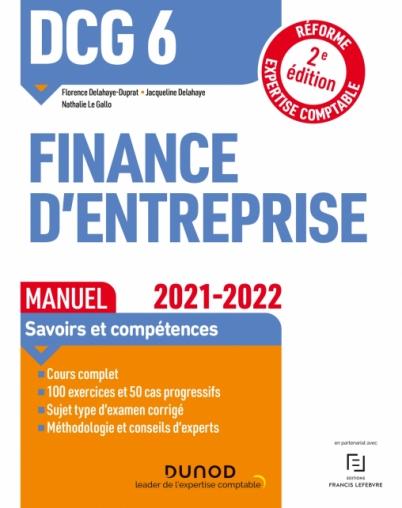 DCG 6 Finance d'entreprise - Manuel 2021-2022