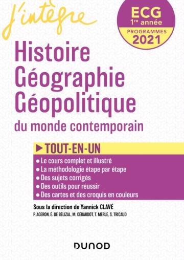 ECG 1re année Histoire Géographie Géopolitique - 2021