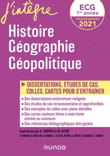 ECG 1re année - Histoire Géographie Géopolitique